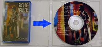 audiocassetta in CD con copertina CR