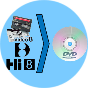 riversamento hi8 - video8 - digital8 - 8mm su dvd